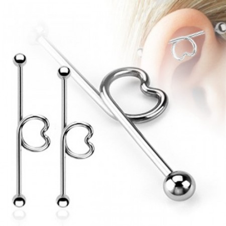 Industrial barbell with heart