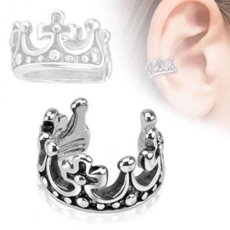 Helix ring with crown