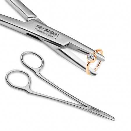 Forceps for ball closure rings and segment rings