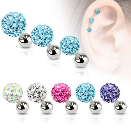 Tragus piercing with big or small Ferido ball