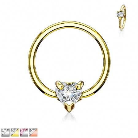 Ball closure ring with multi directional crystal heart