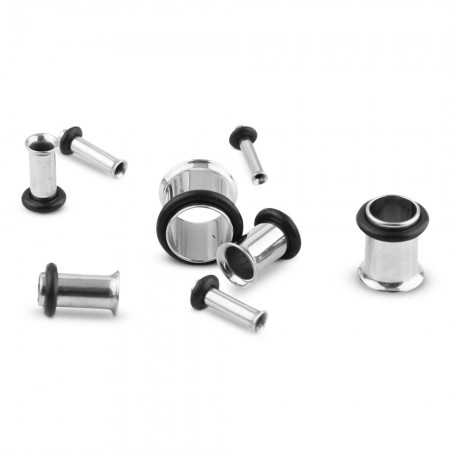 Set tunnels for ear stretching from 1.6 mm to 10 mm