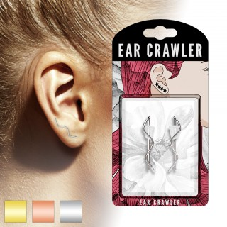 Set of ear crawlers with wire wave