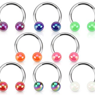 Circular barbell with metallic coated balls