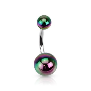 Belly button piercings in metallic colours