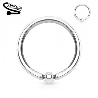 Ball closure ring with extra small attached ball
