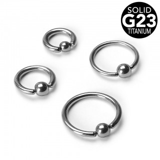 Ball closure ring van massief titanium