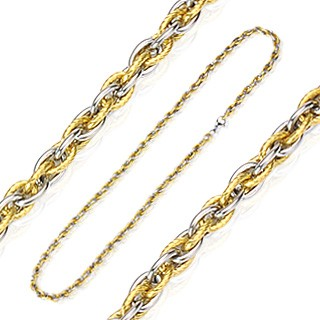 Gold IP and 316L stainless steel link necklaces
