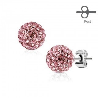 Pair earrings with coloured ferido stud