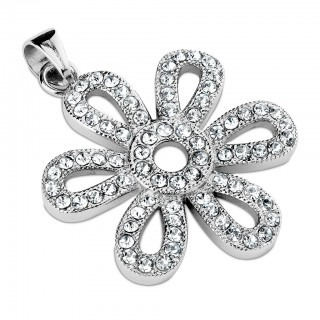 Pendant with crystal flower