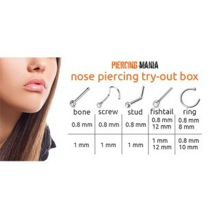 Neuspiercing try-out box