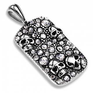 Pendant with skulls and gems