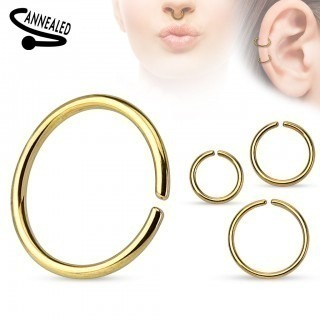 Multifunctional piercing ring with titanium plating