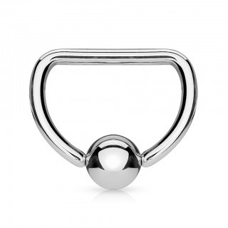Ball closure ring in D vorm