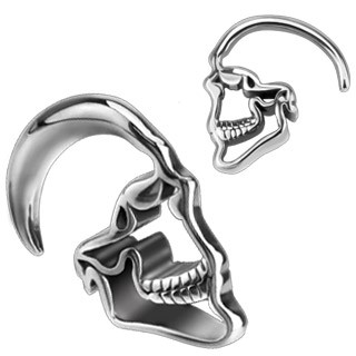 Surgical steel hanging skull taper