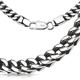 Steel square link chain