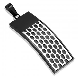 Black pendant with white beehive pattern