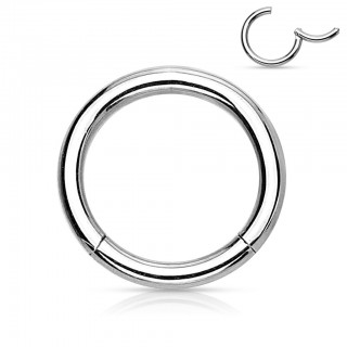 Steel segment ring with attached segment