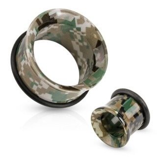 Single flare tunnel met camouflage print