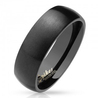 Ring with matte finish and black colour