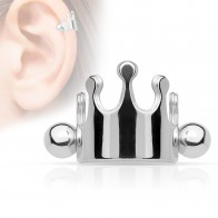 Cartilage piercing with shape of crown