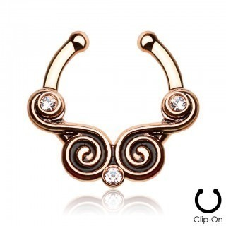 Septum clip on with double swirl