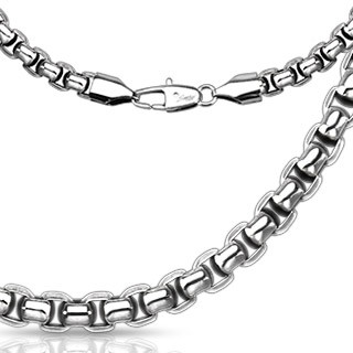 Link chain with round rectangle links