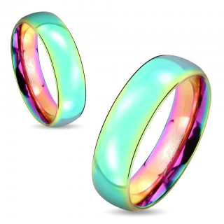 Couple ring with rainbow dome