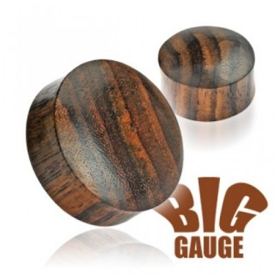 Massieve double flared plug van sono hout