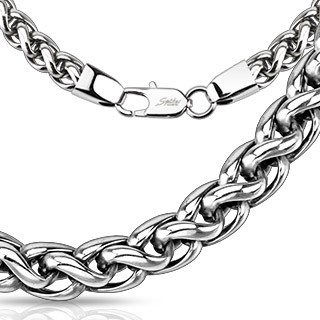 Steel entangled link chain