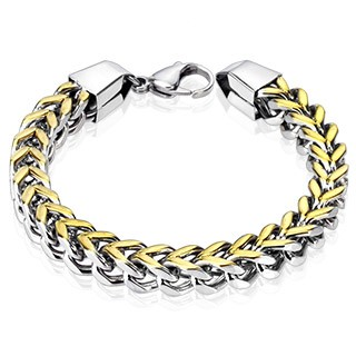 Link bracelet with gold and silver colour
