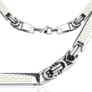 Link chain with Tribal design on links