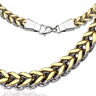 Dualtone link chain with gold plating