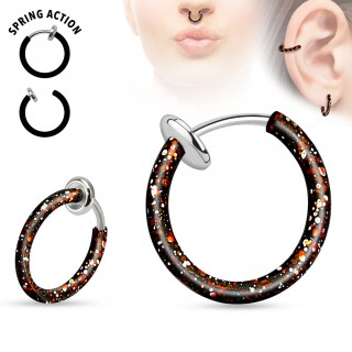 Multifunctional spring clip on piercing with splash pattern