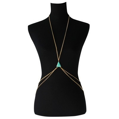 Body chain for belly/neck with triangle stone