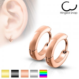 Pair of small basic ear hoops