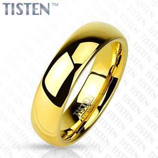 Glossy mirror polished gold Tisten ring