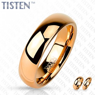 Glossy mirror polished rose gold Tisten ring