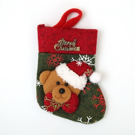 Bear christmas stocking to fill with your gifts