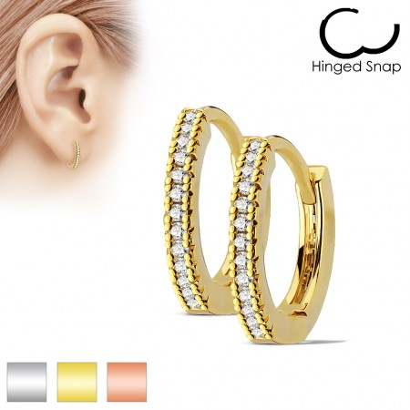 Pair coloured earrings with clear gemstones