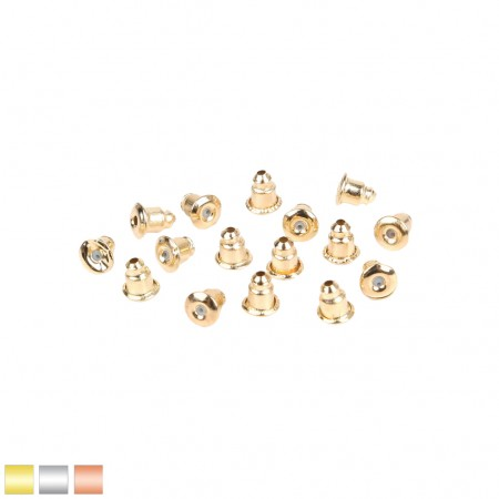 Pack of 10 coloured earring bullet backs