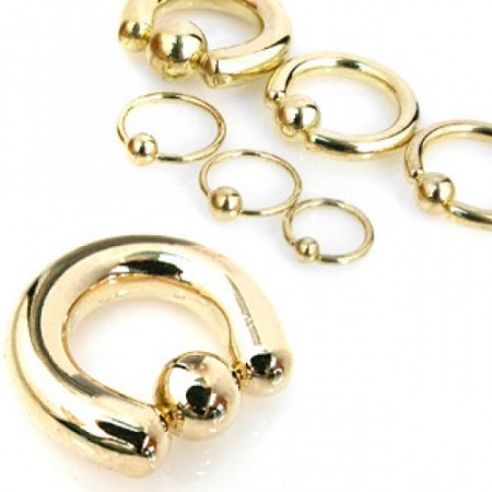 Gold plated ball closure ring
