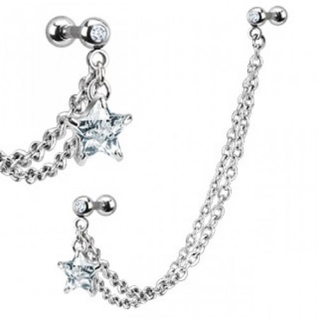 Tragus to helix chain with crystal star