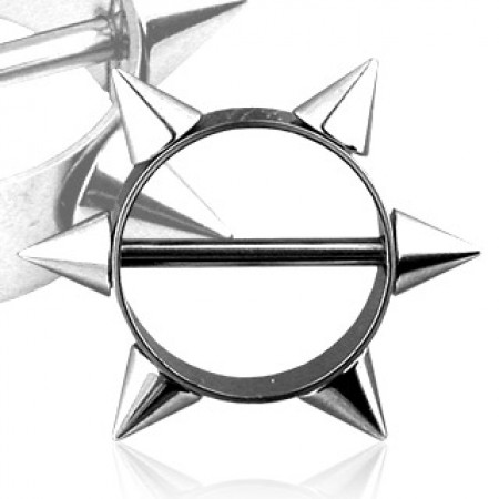 Nipple bar with classic spikes