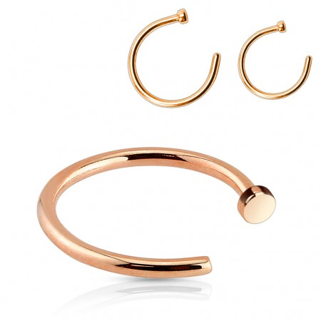 Rose gold plated nose ring