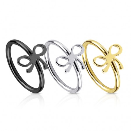 Piercingring with bowtie