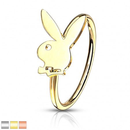 Playboy bunny decorated bendable nose ring