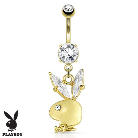 Belly button piercing with crystal eared Playboy bunny