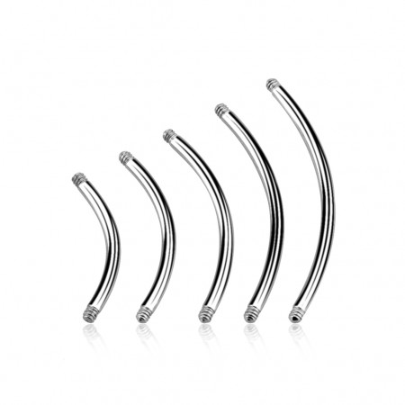 Curved bars made of surgical steel