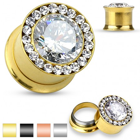 Luxurious plug with small gems and big gem